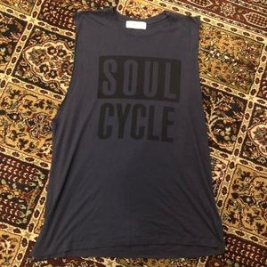 Men's Navy Large SoulCycle Cotton Tank